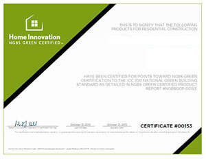 Hi-Bor® NGBS Green Certified